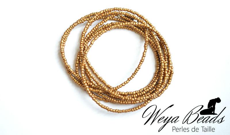 Baya Tiki - Précieuse Dorée perle de taille ou de cheville