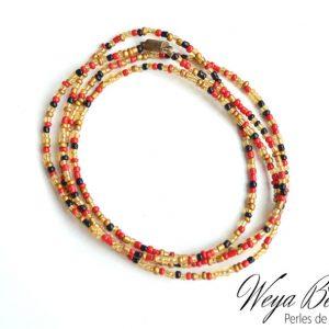 Baya Enangé - Coucher De Soleil perle de taille ou de cheville